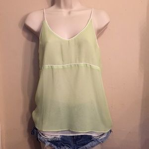 Tank Top   Sheer Green with White Layer